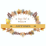 Autumn Leaves Frame. Vector Illustration. Autumn Frame. Vector Illustration Colorful Oak Maple Birch Branch Royalty Free Stock Photos
