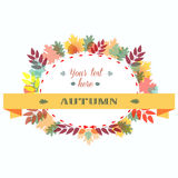 Autumn Leaves Frame. Vector Illustration. Autumn Leaves Frame. Vector Illustration Colorful Oak Maple Birch Branch Royalty Free Stock Photography