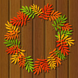Autumn leaves frame Stock Images
