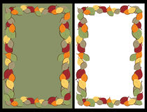 Autumn leaves frames. Set of two autumn leaves frames for your design.EPS file available stock illustration