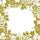 Autumn leaves grange border vector illustration