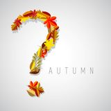 Autumn illustration, question symbol Stock Photos