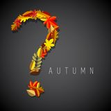 Autumn illustration, question symbol Stock Image