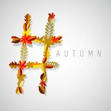 Autumn symbol vector illustration
