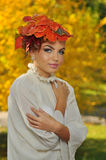 AUTUMN LEAVES. A LEAVES HAT FOR AUTUMN TIME royalty free stock images