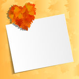Autumn leaves heart. Frame with colorful leaves. Stock Photography