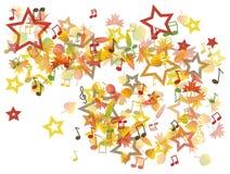 Autumn leaves illustration Royalty Free Stock Photo