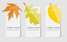 Autumn Leaves Infographic Templates pour des affaires Photo libre de droits