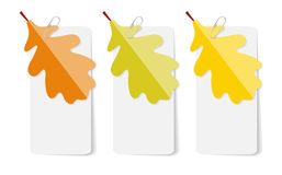 Autumn Leaves Infographic Templates pour des affaires Image libre de droits