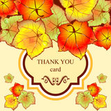 Autumn leaves invitation Stock Image