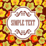 Autumn leaves invitation Royalty Free Stock Image