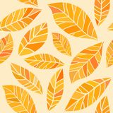 Autumn leaves. Autumn leaf vector seamless pattern Royalty Free Stock Image