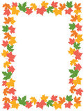 Autumn Leaves [maple] Border Royalty Free Stock Photo