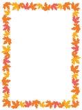 Autumn Leaves [maple] Border royalty free illustration