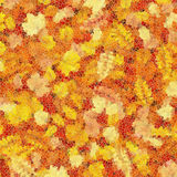 Autumn leaves mosaic. EPS 10 Royalty Free Stock Photo