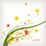 Autumn leaves nature vector background Stock Photo