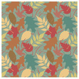 Autumn Leaves Pattern A Stock Image