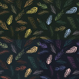 Autumn leaves pattern. For all 4 seasons Royalty Free Stock Images