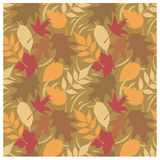 Autumn Leaves Pattern D Stock Image