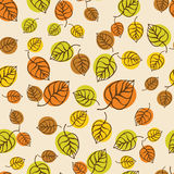 Autumn leaves pattern for design wrapping paper Stock Photography