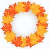Autumn Leaves Pattern rojo y amarillo Foto de archivo
