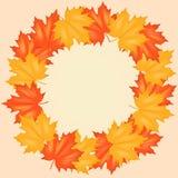 Autumn Leaves Pattern rojo y amarillo Fotos de archivo