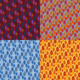 Autumn leaves patterns. Royalty Free Stock Image