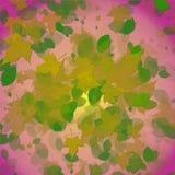 Autumn leaves. On a pinkish background stock illustration