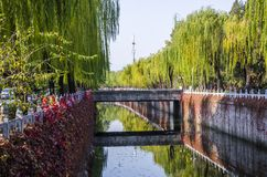 Wanquan river in Tsinghua university royalty free stock images