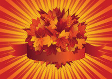 Autumn leaves - ribbon Stock Photo