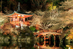 Autumn Leaves at road in Daigo-ji Temple, japan. Stock Images