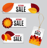 Autumn Leaves Sale Background Vector-Illustration Stockfoto