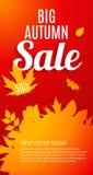 Autumn Leaves Sale Banner brillant Carte de remise d'affaires Vecteur Photographie stock libre de droits