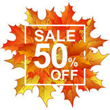 Autumn leaves sale 50 in frame Stock Image