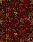Autumn leaves seamless background. defoliation. leaf fall. Autumn leaves seamless background. defoliation Stock Illustration