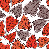 Autumn leaves seamless background, floral vector seamless patter Royalty Free Stock Photo