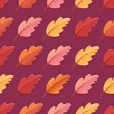 Autumn Leaves Seamless Background, modèle de calibre d'automne avec de belles feuilles illustration de vecteur