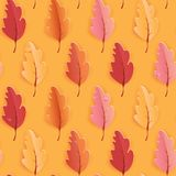 Autumn Leaves Seamless Background, modèle de calibre d'automne avec de belles feuilles illustration stock