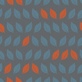 Autumn leaves seamless background pattern Stock Image