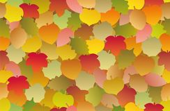 Autumn Leaves Seamless Foliage Background Fotografia de Stock