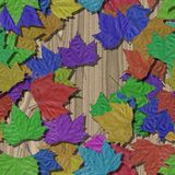 Autumn leaves seamless generated texture background Stock Photography