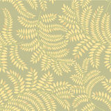 Autumn leaves seamless pattern. Leaves seamless pattern on green background Stock Photography
