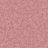 Autumn leaves seamless pattern. Leaves seamless pattern on purple background Royalty Free Stock Photos