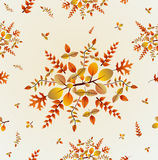 Autumn leaves seamless pattern background. EPS10 f Royalty Free Stock Image