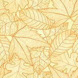 Autumn leaves seamless pattern. Royalty Free Stock Image