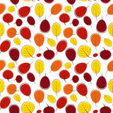 Autumn Leaves Seamless Pattern Background Vector Illustration Stock Image