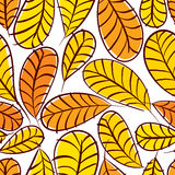 Autumn leaves seamless pattern, floral vector seamless backgroun Stock Image