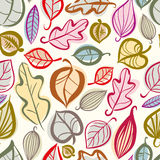Autumn leaves seamless pattern. Royalty Free Stock Images