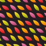 Autumn Leaves Seamless Pattern inclinado Imágenes de archivo libres de regalías