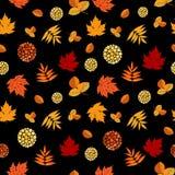 Autumn Leaves Seamless Pattern intelligent Photos stock